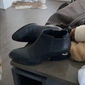 Alexander Wang Kori ankle boots black silver plate